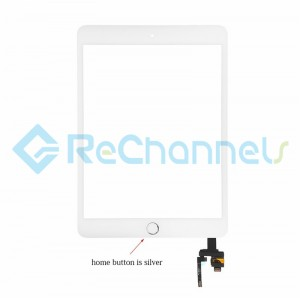 For Apple iPad Mini 3 Digitizer Touch Screen Assembly with IC Board Replacement - Silver - Grade R