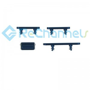 For iPhone 12/12 Mini Side Buttons Replacement-Blue-Grade S+