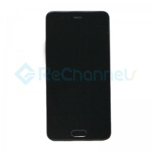 For Huawei P10 LCD Screen and Digitizer Assembly with Front Housing Replacement - Black - Grade S