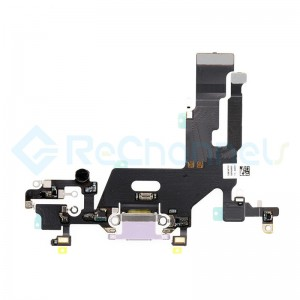 For Apple iPhone11 Charging Port Flex Cable Ribbon Replacement - Purple - Grade S+