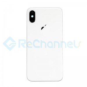 For Apple iPhone XS Rear Housing with Battery Door Replacement - Silver - Grade S+