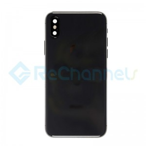 For Apple iPhone X Rear Housing Assembly with Battery Door Replacement - Space Gray - Grade S+