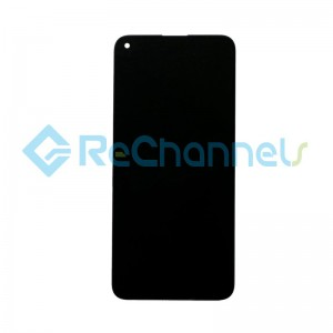 For Huawei P40 Lite E LCD Screen and Digitizer Assembly with Front Housing Replacement - Black - Grade S+