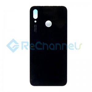 For Huawei P20 Lite Battery Door Replacement - Black - Grade S+