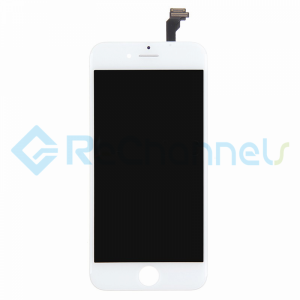 For Apple iPhone 6 LCD Screen and Digitizer Assembly with Frame Replacement  - White - Grade R