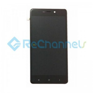 For Xiaomi Redmi 4 Pro LCD Screen and Digitizer Assembly with Front Housing Replacement - Black - Grade S