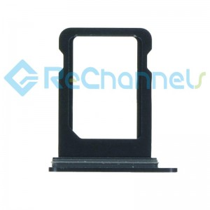 For iPhone 12 Mini Sim Card Tray Replacement Single Version-Black-Grade S+