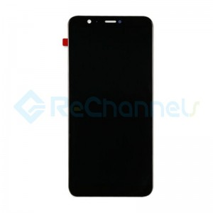 For Huawei P Smart LCD Screen and Digitizer Assembly with Front Housing Replacement - Black - Grade S