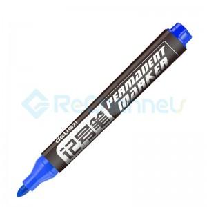 For Deli No.6881 Permanent Marker-Blue