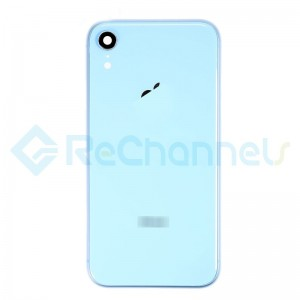 For Apple iPhone XR Rear Housing with Battery Door Replacement - Blue - Grade S+