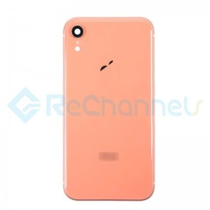 For Apple iPhone XR Rear Housing with Battery Door Replacement - Coral - Grade S+
