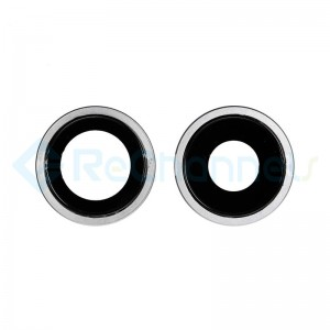 For Apple iPhone 11 Rear Camera Lens with Bezel Replacement - White - Grade S+