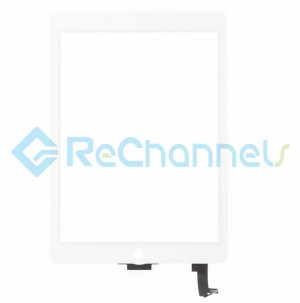 For Apple iPad Air 2 Digitizer Touch Screen Replacement - White - Grade S