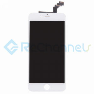For Apple iPhone 6 Plus LCD Screen and Digitizer Assembly with Front Housing Replacement - White - Grade R