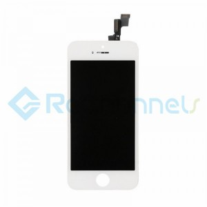 For Apple iPhone SE LCD Screen and Digitizer Assembly with Front Housing Replacement - White - Grade R