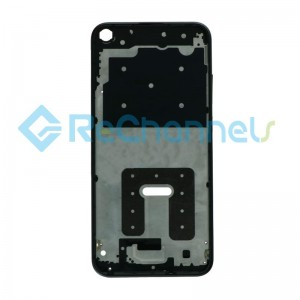 For Huawei P40 Lite E Front Housing Replacement - Black - Grade S+