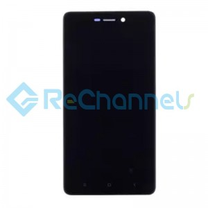 For Xiaomi Redmi 3S LCD Screen and Digitizer Assembly with Front Housing Replacement - Black - Grade S