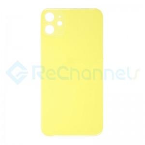 For Apple iPhone 11 Battery Door  Replacement - Yellow - Grade S