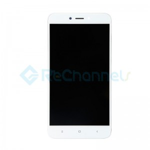 For Xiaomi Redmi 4X LCD Screen and Digitizer Assembly with Front Housing Replacement - White - Grade S+