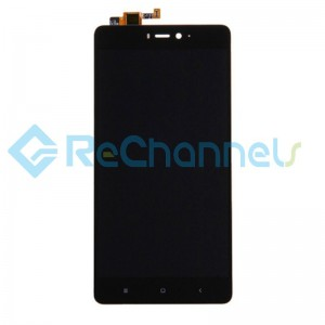 For Xiaomi Mi 4S LCD Screen and Digitizer Assembly with Front Housing Replacement - Black - Grade S