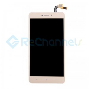 For Xiaomi Redmi Note 4X LCD Screen and Digitizer Assembly with Front Housing Replacement - Gold - Grade S