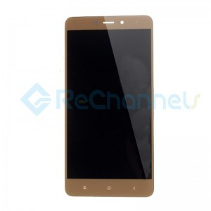 For Xiaomi Redmi 4X LCD Screen and Digitizer Assembly with Front Housing Replacement - Gold - Grade S