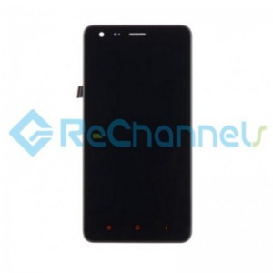 For Xiaomi Redmi S2 LCD Screen and Digitizer Assembly with Front Housing Replacement - Black - Grade S