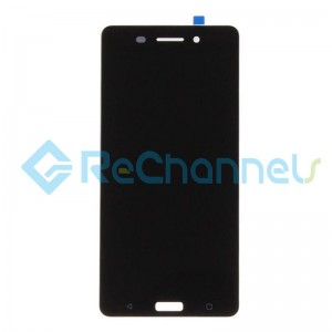 For Nokia 6 LCD Screen and Digitizer Assembly Replacement - Black - Grade S+