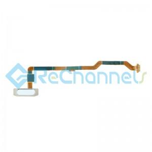 For Huawei MediaPad M5 lite 10.1 Fingerprint Sensor Flex Cable Replacement - White - Grade S+