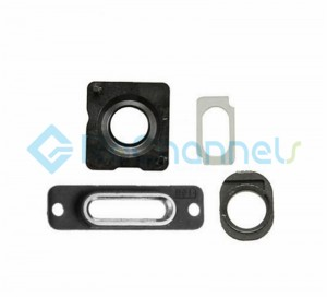For Apple iPhone 5S Rear Housing Small Components Replacement (4pcs/set) - Black - Grade S+