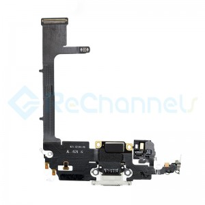 For Apple iPhone 11 Pro Charging Port Flex Cable Replacement - Silver - Grade S+