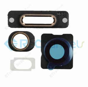 For Apple iPhone 5S Rear Housing Small Components Replacement (4pcs/set) - Gold - Grade S+