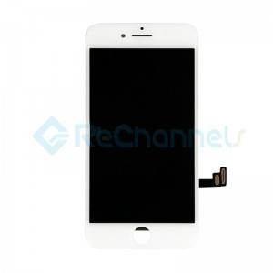 For Apple iPhone 8 LCD Screen and Digitizer Assembly with Frame Replacement - White - Grade R+
