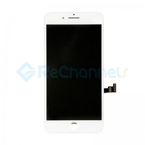 For Apple iPhone 8 Plus LCD Screen and Digitizer Assembly with Frame Replacement - White - Grade R+