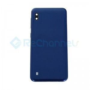 For Samsung Galaxy A10 SM-A105 Battery Door Replacement - Blue - Grade S+