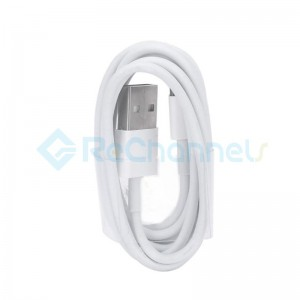 USB Charging Cable for Apple (1M )- White - Grade S+