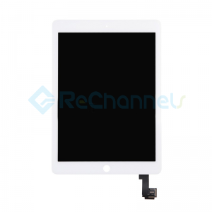 For Apple iPad Air 2 LCD Screen and Digitizer Assembly Replacement - White - Grade R