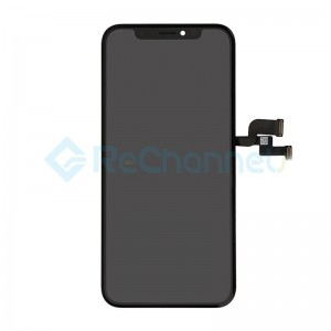 For Apple iPhone XS LCD Screen and Digitizer Assembly with Frame Replacement (LCD) - Black - Grade R