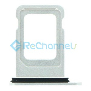For iPhone 12 Sim Card Tray Replacement- Single Version-White-Grade S+
