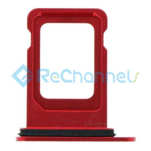 For iPhone 12 Sim Card Tray Replacement- Single Version-Red-Grade S+
