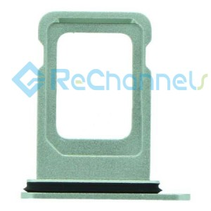 For iPhone 12 Sim Card Tray Replacement- Single Version-Green-Grade S+