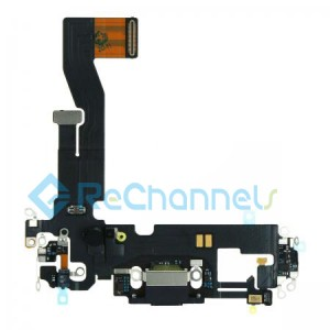 For iPhone 12 Charging Port Flex Cable Replacement-Black-Grade S+