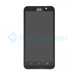 For Asus Zenfone 2 ZE551ML LCD Screen and Digitizer Assembly with Front Housing Replacement - Black - Grade S
