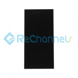 For Blackberry Leap LCD Screen and Digitizer Assembly with front housing Replacement - Black - Grade S