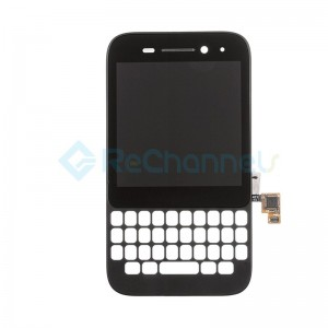 For Blackberry Q5 LCD Screen and Digitizer Assembly with Front Housing Replacement - Black - Grade S+