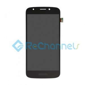 For Motorola Moto E5 Play LCD Screen and Digitizer Assembly Replacement - Black - Grade S