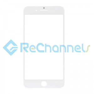 For Apple iPhone 8 Plus Glass Lens Replacement - White - Grade S+
