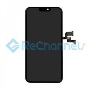 For Apple iPhone X OLED Screen and Digitizer Assembly with Frame Replacement (OLED) - Black - Grade R+