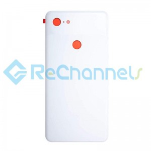 For Google Pixel 3 XL Battery Door Replacement (With Adhesive) - White - Grade S+