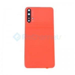 For Huawei Nova 5T Battery Door Replacement - Orange - Grade S+